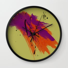 Legends, Abstract Watercolor Brushstrokes Wall Clock