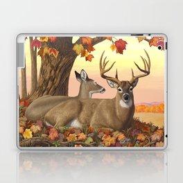 Hilltop Retreat Whitetail Deer Painting Laptop & iPad Skin