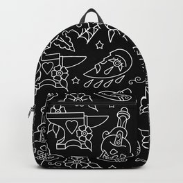 Classic Black Tattoo Pattern  Backpack