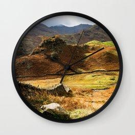 Castle Howe landscape Wall Clock
