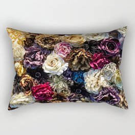 Flower Wall // Full Color Floral Accent Background Jaw Dropping Decoration Rectangular Pillow