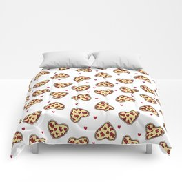 Pizza hearts cute love gifts foodie valentines day slices Comforters