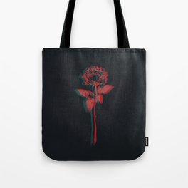 Glitchy Rose Tote Bag