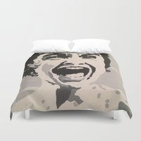 scream Duvet Covers featuring scream by Kayleigh Kirkpatrick