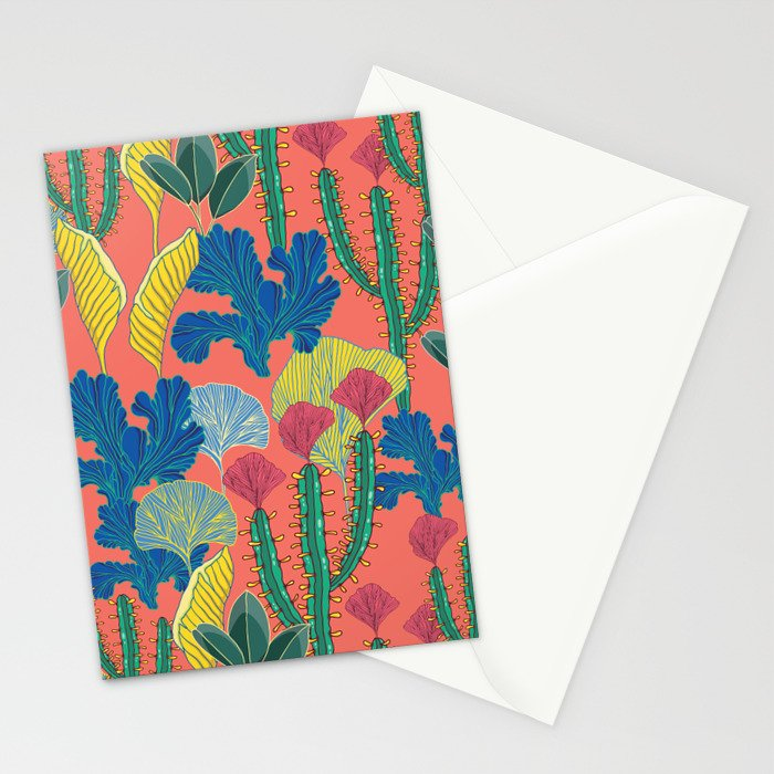 Tropical autumn Stationery Cards