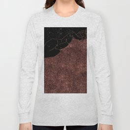 Just Pink Glitter Nude in Line Long Sleeve T-shirt