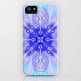 Zen Snowflake Mandala iPhone Case