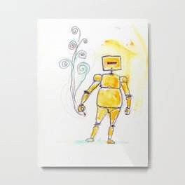 Yellow Wants To Go Out Like A Blister In The Sun Metal Print