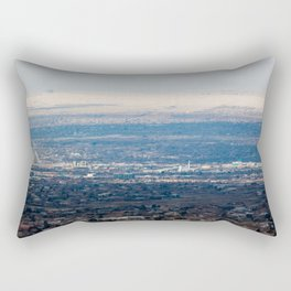 Albuquerque from the Mountains Rectangular Pillow
