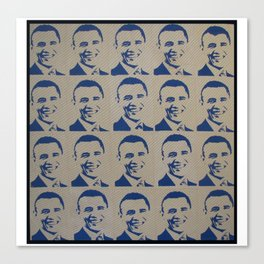 Obama In Blue Canvas Print