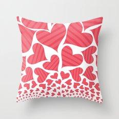 Bursting Hearts Throw Pillow