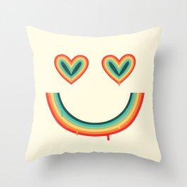 Happy Rainbow Throw Pillow