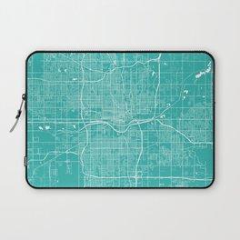 Oklahoma City map turquoise Laptop Sleeve