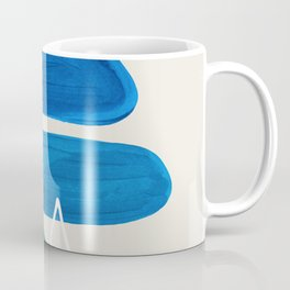 Fun Abstract Minimalist Mid Century Modern Colorful Shapes Marine Green Blue Ombre Watercolor Bubble Coffee Mug