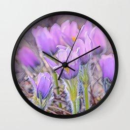 Lavender Bloom Wall Clock