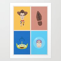 toy story Art Prints featuring Toy Story by Al Power