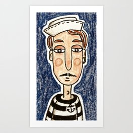 Dreams's Sailor Art Print