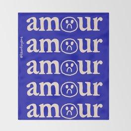 l'amour en bleu Throw Blanket