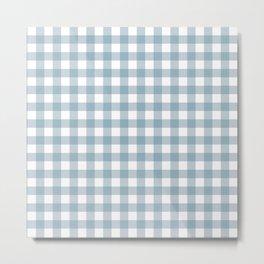 Blue gingham pattern Metal Print