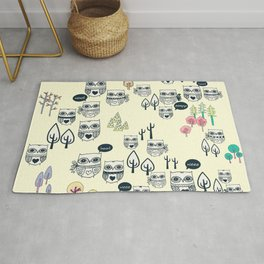 Forest Of Owls Rug
