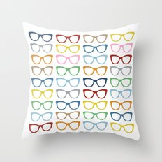 Glasses #2 Throw Pillow