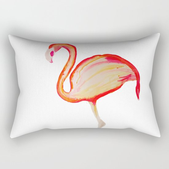 Flamingo Pink Rectangular Pillow