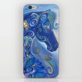 Blue Horse iPhone Skin
