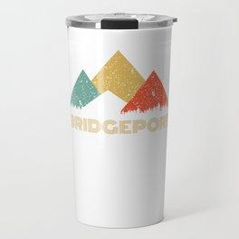 Retro City of Bridgeport Mountain Shirt Travel Mug