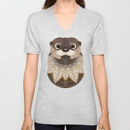 Ornate Otter Unisex V-Neck