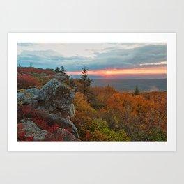 Autumn Dolly Sods Sunrise Art Print