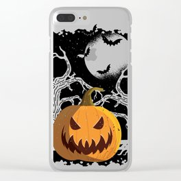 Halloween Clear iPhone Case