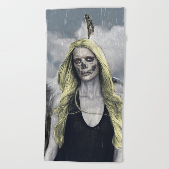 I never held emotion in the palm of my hand Beach Towel