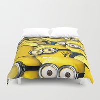 lannister Duvet Covers featuring DESPICABLE MINION by BeautyArtGalery