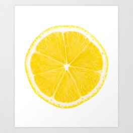 LOVE LEMON Art Print