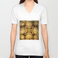 kaleidoscope V-neck T-shirts featuring Kaleidoscope by Irina Chuckowree