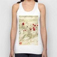 poem Tank Tops featuring A POPPY  POEM by Stephanie Koehl