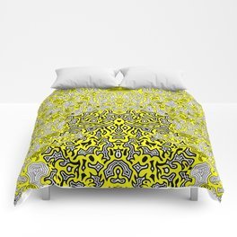 Bled Out Yellow Comforters