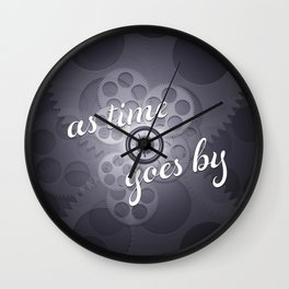 """""""As Time Goes By"""" - black and white vector artwork Wall Clock"""