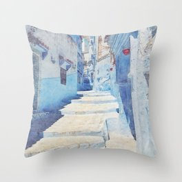Mediterranean journey-Morocco Throw Pillow