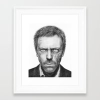 house md Framed Art Prints featuring House MD by Olechka