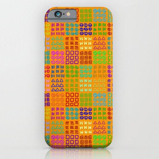Aztec Wannabe (Orange) iPhone & iPod Case