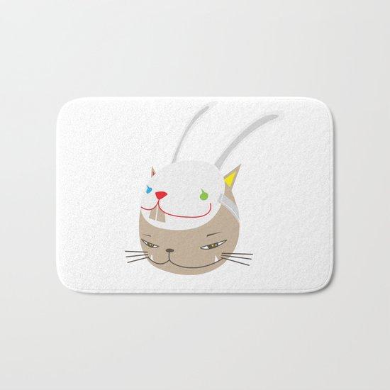 CAT WITH RABBITZ MASK Bath Mat