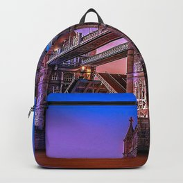 Gorgeous Shoreline View Of Overpass At Marvelous Sunset Ultra High Resolution Backpack
