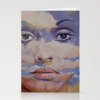 mona lisa Stationery Cards featuring Mona Lisa by Michael Creese
