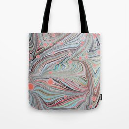 Marbled Multi-color Organic Pattern Tote Bag