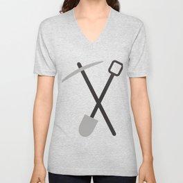 shovel and pickaxe Unisex V-Neck