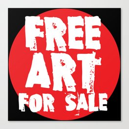 Free Art for Sale (red) Canvas Print