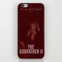 The Godfather, Part II, Robert De Niro, Francis Ford Coppola, alternative movie poster, cult film iPhone Skin