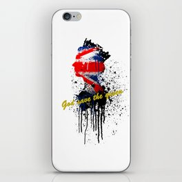 GOD SAVE THE QUEEN iPhone Skin