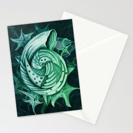 Dystopian Conch - Lambent Green Stationery Cards